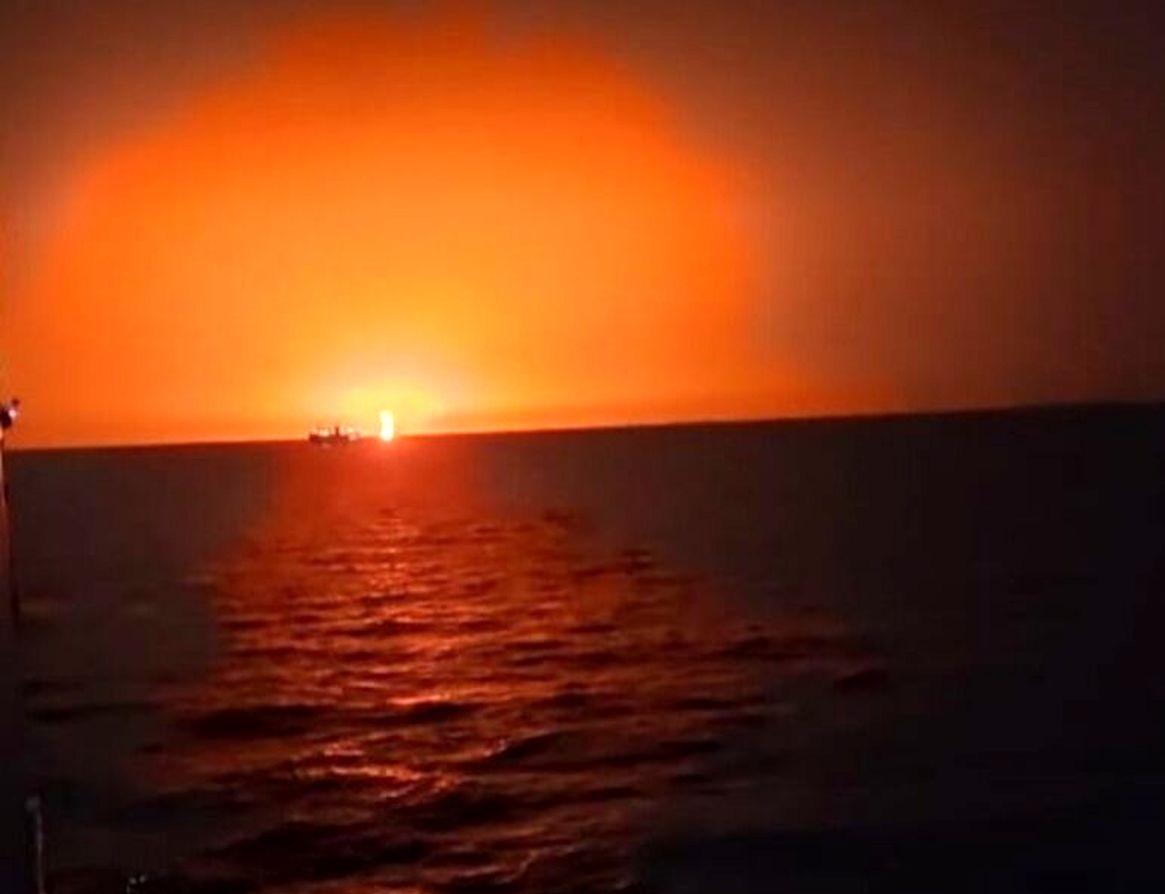 انفجار دریای خزر