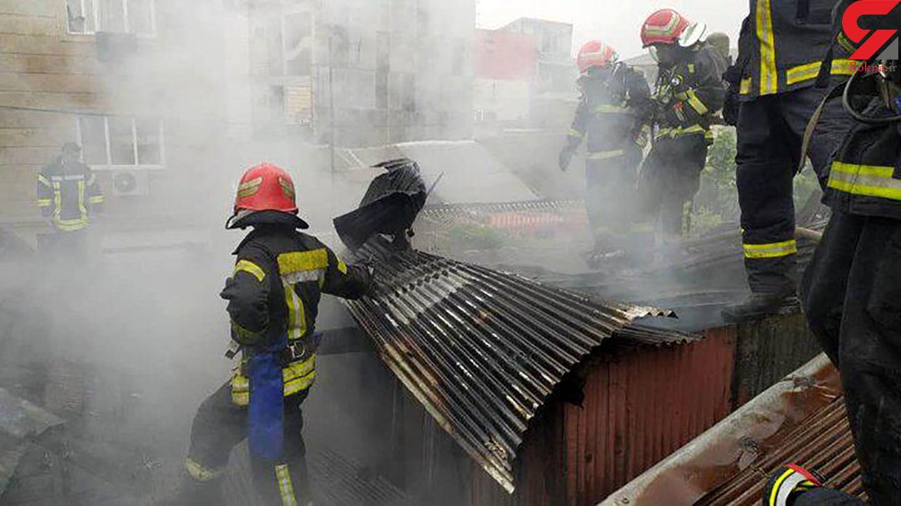 سوختن مرد 70 ساله در آتش
