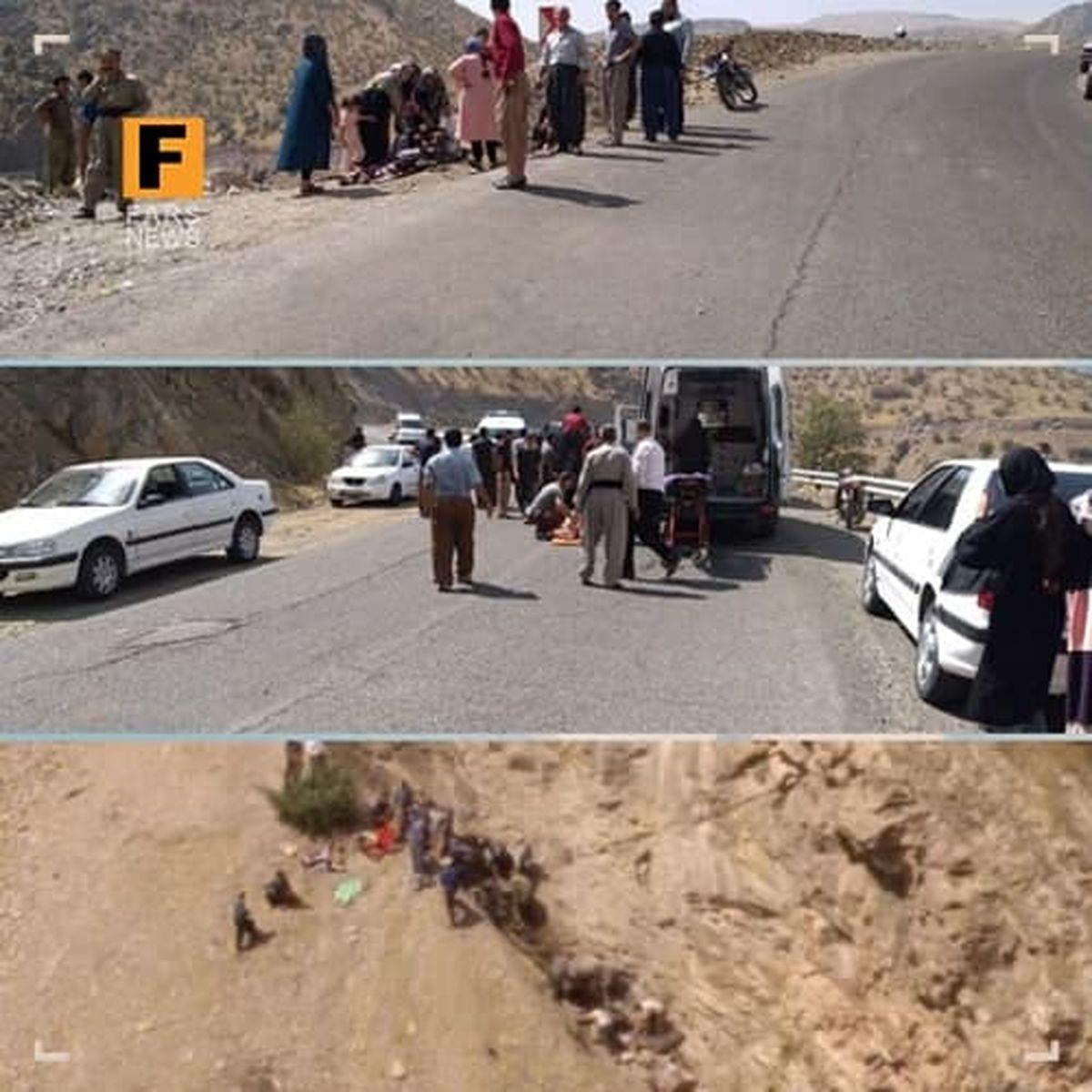 سقوط وحشتناک مینیبوس به دره در کردستان|شمار تلفات چقدر بود؟