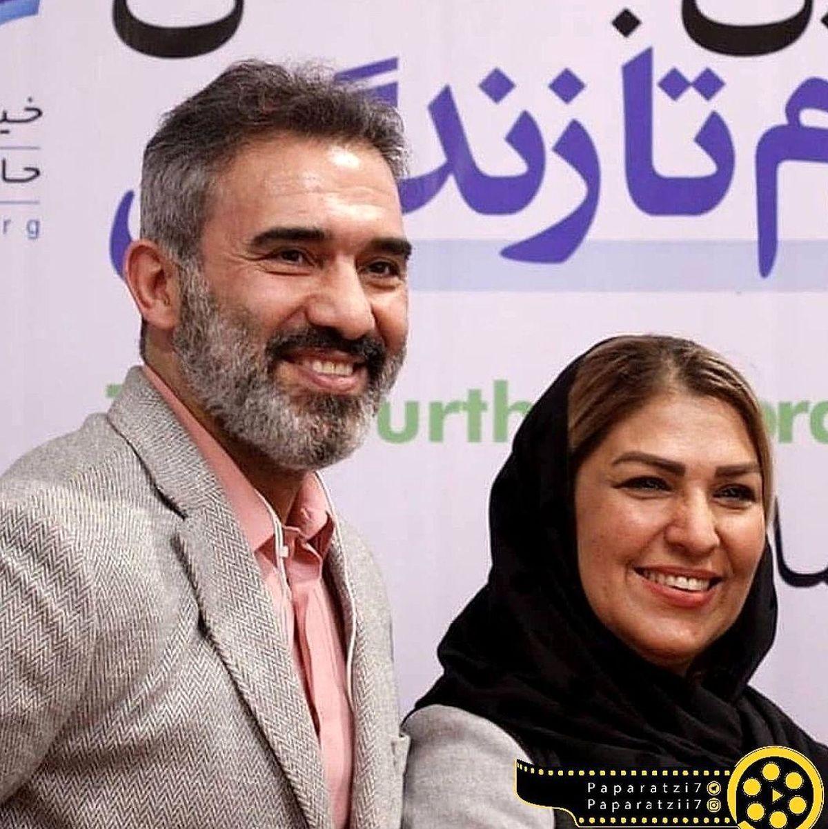 شباهت عجیب احمدرضا عابدزاده با پسرش / عکس لورفته