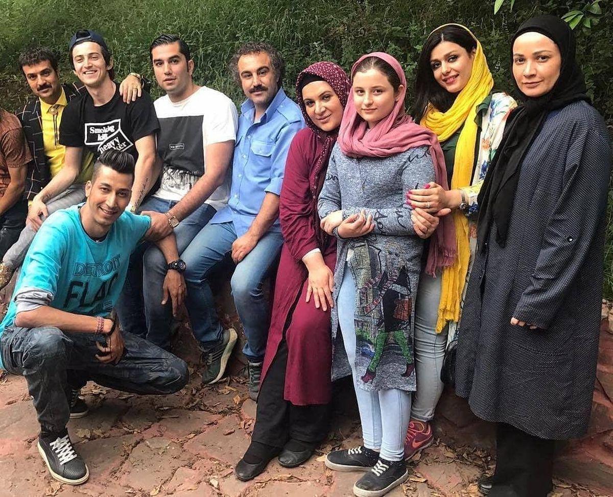 بازیگران پایتخت با چهره ای متفاوت در کنار هم + عکس جدید