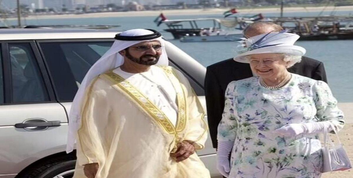 تحقیر حاکم دبی توسط ملکه انگلستان