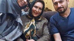 مهوش صبر کن در کنار همسر و پسرش مسعود