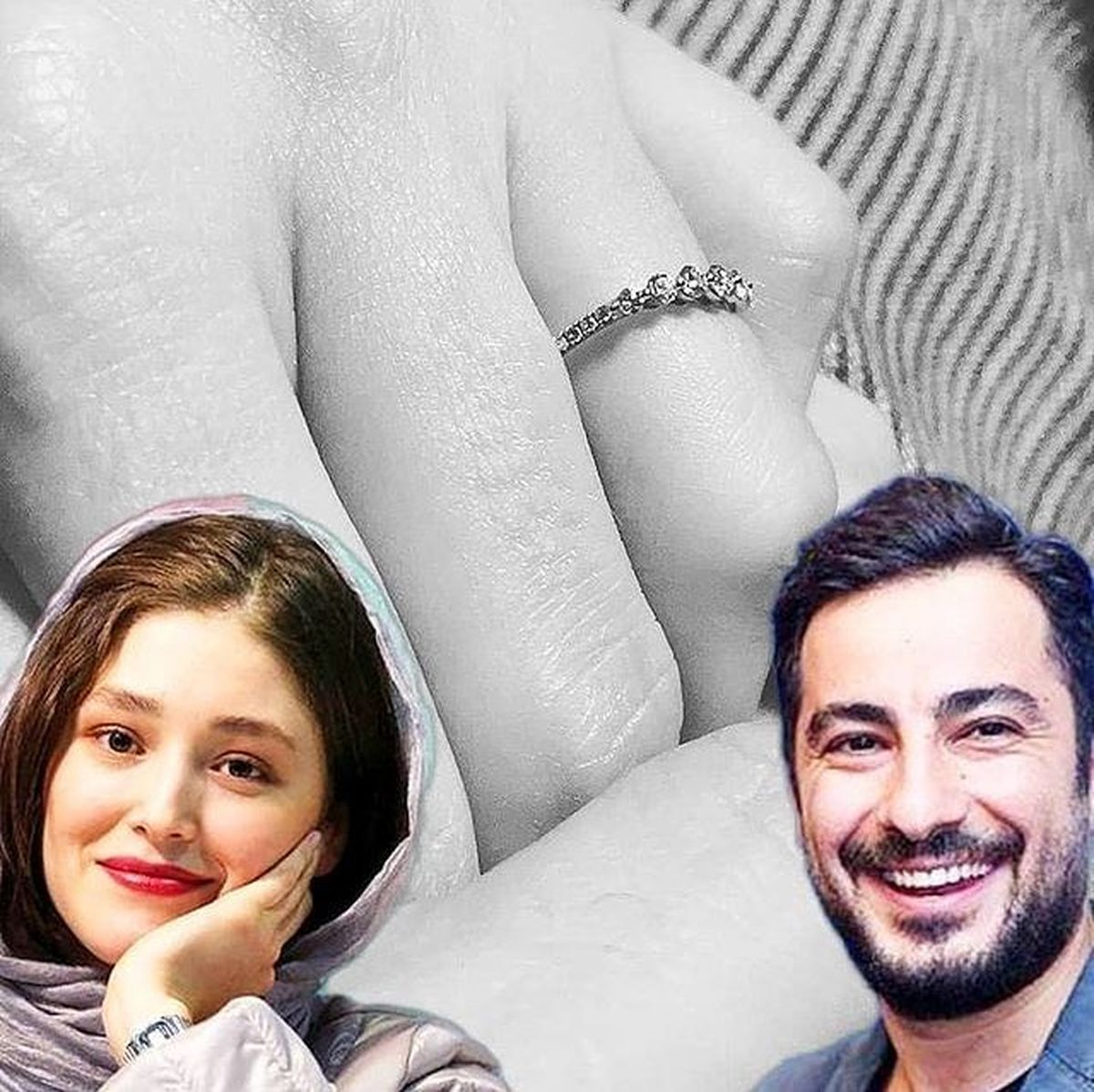 نوید محمدزاده با فرشته حسینی ازدواج کرد /  عکس حلقه گران قیمت این بازیگر خانوم