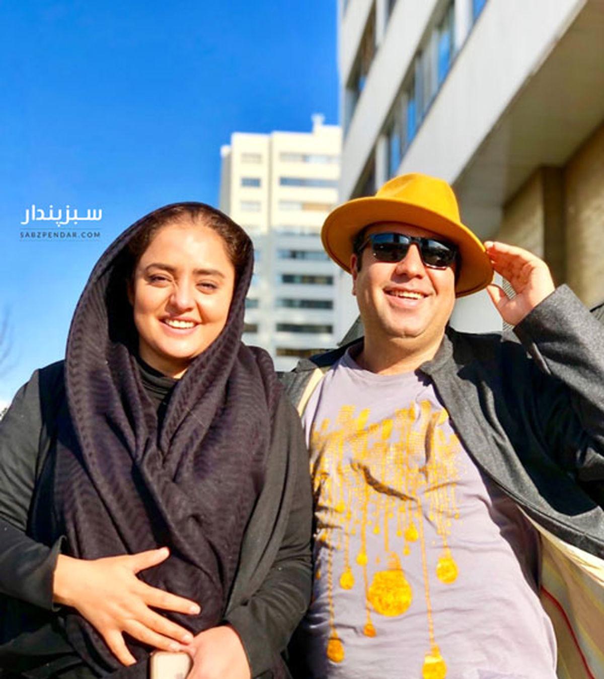 دورهمی نرگس محمدی و همسرش در کنار نسیم ادبی